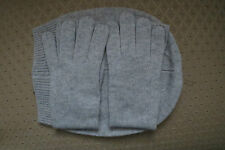 M.I.L.A. Cashmere Beanie and Glove Set Made in USA NWT – Light Grey - $298