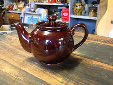 BRT Vintage Antique Small Brown Betty (2 cup) Pottery Teapot Sadler England