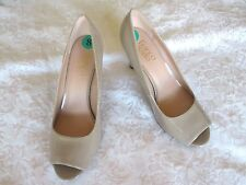FRANCO SARTO 'Nimbus2' 8 M Beige Patent Peep Toe HEELS SHOES NEW