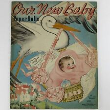 OUR NEW BABY Florence Salter 1937 PAPER DOLLS Merrill Publishing #3428 UNUSED