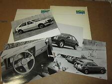 INFORMAZIONI STAMPA GENERAL MOTORS OPEL KADETT ANNO 1979 CON FOTO