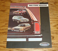 Original 1983 Ford Station Wagon Sales Brochure 83 Escort LTD Country Squire