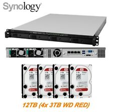 €1282+IVA SYNOLOGY RS815RP+ 12TB (4x3TB RED) 2.4GHz 4C/USB 3.0/eSATA/4xGbE/2xPSU