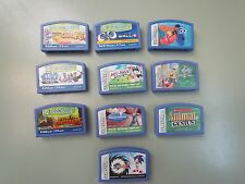 LEAPSTER GAMES LEAP FROG LEARNING 10 GAME LOT SONIC SPONGEBOB NEMO STAR WARS