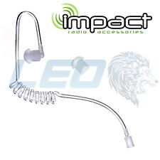 Impact QDAT-1 Clear Coiled Acoustic Audio Tube with Rubber Eartip High Quality