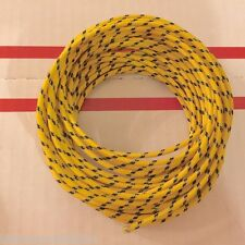 Harley Cloth Covered Yellow 16 ga Wiring Wires 25 Ft. Knucklehead Panhead