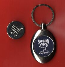SKINHEAD KEYRING TROLLEY COIN oi SKA SCOOTER 1013