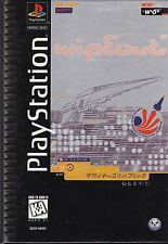 WIPEOUT Playstation 1 (PS1) Long Box Complete ADULT OWNED & Played Black Disc