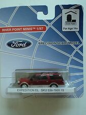 RIVER POINT  FORD  EXPEDITION  EL  SUV    RED      1/87  HO    PLASTIC  CAR
