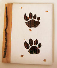 Large hand-made Photo album DOG'S PAW design, leaf cover/hand-made paper new