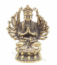 Mini brass Guanyin Buddha 2.5cm Godess of mercy laiton bouddha messing boeddha