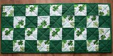 Handmade Quilted Table Runner St. Patrick's Day Green Shamrock