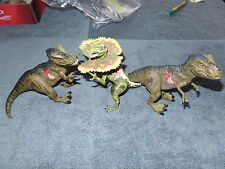 T-REX (x2) & DILOPHOSAURUS JURASSIC PARK 3 RE-AK A-TAK ACTION FIGURE LOT JP3 +