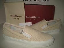 $450 NEW Salvatore Ferragamo Women US 9.5 Pacau Suede Leather Sneakers Shoes BOX