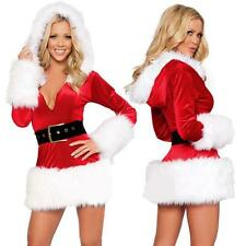 Sexy Women Ladies Christmas Party Fancy Dress Cosplay Suit Santa Costume New Lot