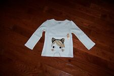 NWT GYMBOREE RIGHT MEOW LS TOP 5T
