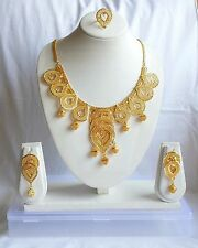 Assorted Design Indian Bollywood Designer Fashion Jewelry Gold Plated Set