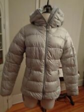 EDDIE BAUER premuim goose down jacket 550 fill power women's S silver gray