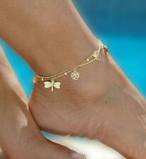 Women Gold Chain Ankle Anklet Bracelet Barefoot Sandal Beach Foot Jewelry VF-A