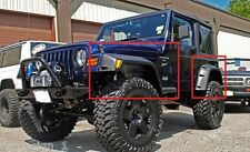 "JEEP WRANGLER TJ 1997 - 2006 WHEEL ARCH - FENDER FLARES NEW 18cm / 7"" 4 PCS"