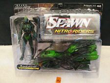 Spawn GREEN VAPOR Nitro Riders Action Figure with Motorcycle NEW McFarlane Toys