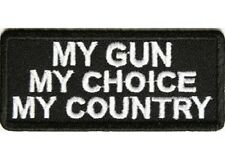 MY GUN  MY CHOICE  MY COUNTRY PATCH