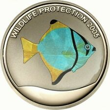 Congo 2005 Angel Fish 10 Francs Color Silver Coin,Proof