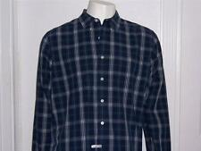 MENS ABERCROMBIE & FITCH BLUE WHITE PLAID MUSCLE SHIRT SIZE LARGE