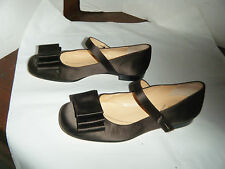 KATE SPADE Dress Shoes Made-in-Italy-6B-Brown Satin