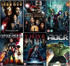 Avengers Ultimate Marvel Superheros All 6 Movies Complete Collection NEW R2 DVD