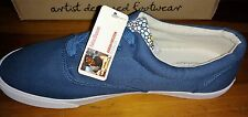 NIB BUCKETFEET False Denim LACE-UP SNEAKERS Navy Blue Canvas Mens 12 $60