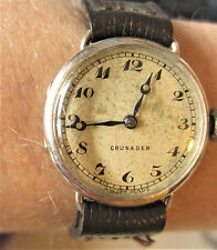 Vintage Ladies 1935 Silver Swiss Crusader Watch Serviced + Warranty