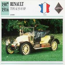1907-1914 RENAULT Type AI 35/45 HP Classic Car Photograph/Information Maxi Card
