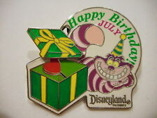Cheshire Cat Happy Birthday July Movable Parts Disney Pin Limited Edition 1000