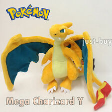 Pokemon Red Firered Plush Mega Charizard Y #006 Soft Toy Stuffed Animal Doll 9""