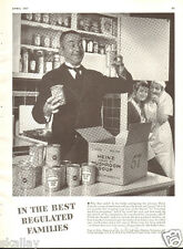 1937 LARGE Print Ad of Heinz 57 Mushroom Soup The Butler Cook & First Maid Smile