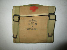 WWI RARE US ARMY MEDICAL CORPS OFFICER SURGEON FIELD POUCH WITH EARLY EAGLE SNAP
