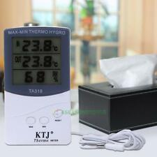 Digital LCD Indoor/Outdoor Thermometer Hygrometer Meter Temperature Humidity Hot