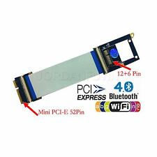 52pin Mini PCI-E to BCM94360CD Flexible Adapter + Wireless Antenna parts