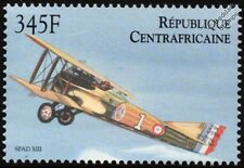 WWI Eddie Rickenbacker SPAD S.XIII Aircraft Stamp (2000 Central African Rep.)