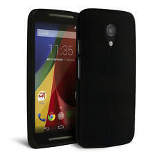 Celicious Slender R Rubberised Back Cover for Motorola Moto G (2014) - Black