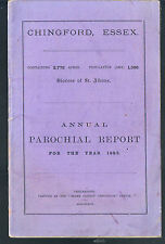 ANNUAL PAROCHIAL REPORT DIOCESE OF ST ALBANS CHINGFORD RECTORY ESSEX 1885