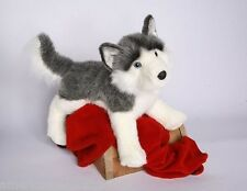 "NADIA Husky stuffed animal plush 20"" DOG by Douglas Cuddle Toys gray white"