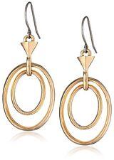 """Kensie """"Haute Look"""" Gold-Plated Color Orbital Oval Hoop Earrings"""