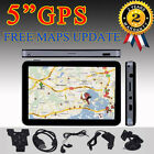 "5"" Inch 4GB Bluetooth GPS Car SAT NAV Navigation Free EU AU Map Update Sunshade"