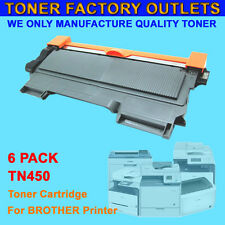 6PK TN450 Black Toner Cartridge For Brother HL-2270DW HL-2275DW HL-2280DW