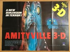 Amityville 3D -Original British Quad Cinema Movie Poster - Horror