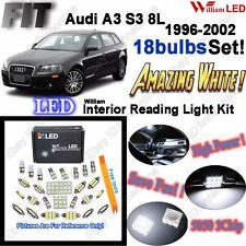 18 Blubs Super White LED Interior Light Kit Package For Audi A3 S3 8L 1996-2002