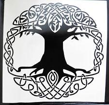 Celtic Arbre de vie des dieux Mythes Magic autocollants / VOITURE / FOURGONNETTE / Pare-chocs / fenêtre / autocollant 5208bk