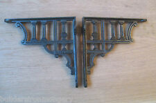 PAIR OF GREEK COLUMN antique Vintage style cast iron shelf bracket wall mounted